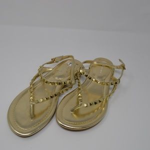 Marc Fisher Studded Gold Sandals